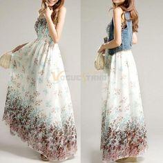 Sexy Maxi Casual Beach Sundress  Long Dress #new #Sundress