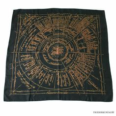 Hermes Naissance d'Une Idee Scarf in Black