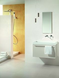 Vivacity - create a stunning wet room with these gorgeous modern textured tiles