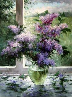Bouquets Russian Artist - Букеты русских художников Lilac in the painting Deutsch Professionelle Fotoalben Jedes Hochzeitspaar träumt von einem wunder. Art Floral, Watercolor Flowers, Watercolor Paintings, Lilac Painting, Acrylic Painting Techniques, Still Life Art, Beautiful Paintings, Art Blog, Painting Inspiration