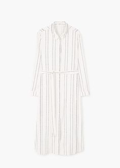 Striped shirt dress   MANGO