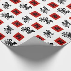 Chinese Year of the Dog Gift Wrapping Paper. Chinese Year of the Dog Gift Wrapping Paper. Matching cards, postage stamps, traditional red envelopes and other products available in the Chinese New Year / Year of the Dog Category of the Mairin Studio store at zazzle.com