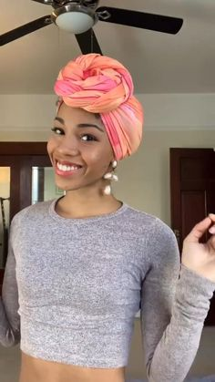 hair wrap scarf tutorial videos Looking for a how-to video tutorial of how to wear a head wrap Four of my favourite ways to style a headwrap as a protective style. Hair Wrap Scarf, Hair Scarf Styles, Curly Hair Styles, Natural Hair Styles, Scarf Head Wraps, Turban Mode, Turban Style, Scarf Hairstyles, Black Girls Hairstyles