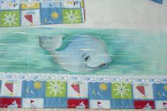 #fralda para #menino, #pintadaamão com tema #baleia ,#jogodefraldas com #3peças. https://www.facebook.com/atelietonsdevida