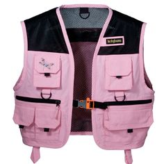 pink fishing vest. so awesome for a kid.