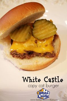 How to make a White Castle burger