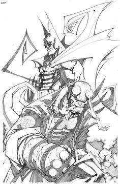 BATMAN HELLBOY by Sandoval-Art