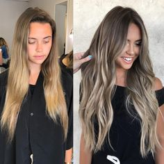 Side Swept Waves for Ash Blonde Hair - 50 Light Brown Hair Color Ideas with Highlights and Lowlights - The Trending Hairstyle Brown Ombre Hair, Brown Hair Balayage, Brown Blonde Hair, Balayage Brunette, Ombre Hair Color, Light Brown Hair, Dark Hair, Blonde Highlights, Medium Long Haircuts