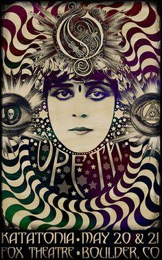 ☯☮ॐ American Hippie Rock ~ Darren Grealish Opeth poster #Darrengrealish #Stonerrock #Psychedelic #Heavymetal #LSD #Gigposters #Punk #Fillmore