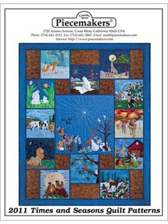 Piecemakers 2011 Times and Seasons Patterns – Piecemakers Country Store Online Store