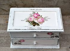 Pupavkashop / Vintage roses šperkovnica