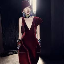 2013 winter cloche hat and stunning dress combination.