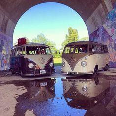 "vwbusfanpage: ""Happiness is … sunshine after the rain #vw #volkswagen #vwbus """