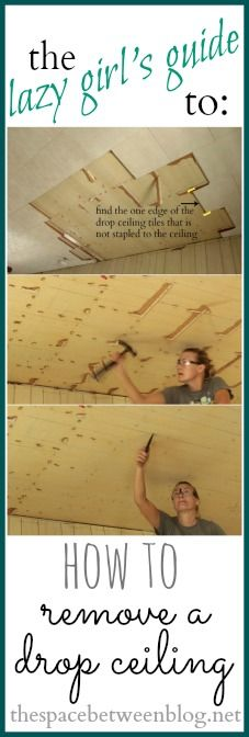 an easy to follow, step-by-step tutorial for removing those sad, old drop ceilings