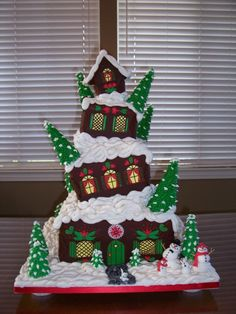 Topsey Turvey Gingerbread House