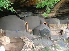 Lesotho cave houses Troglodytes, Ice Houses, Small Groups, Art And Architecture, Old And New, South Africa, Mud, Sticks, Countries