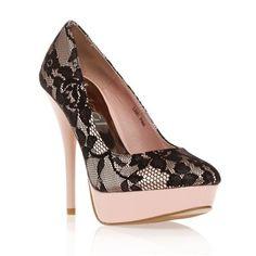 Ideal Shoes Escarpins rose et noir