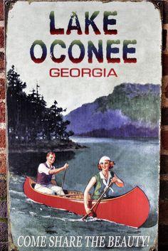 Vintage tourism sign for Lake Oconee (Georgia)| by LeeHoward