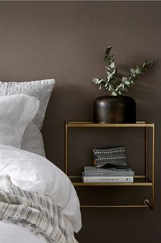 Find cheap affordable glass shelves styled for your home Master Bedroom Makeover, Bedroom Inspo, Bedroom Decor, White Interior Design, Brown Interior, Dresser As Nightstand, Floating Nightstand, Wall Mounted Bedside Table, Dream Bedroom