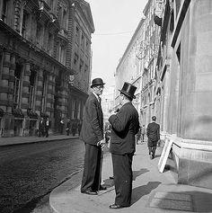 Lombard Street, City Of London, early 1960s. By John Gay.