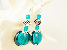 Beautiful long turquoise silver dangle by 10dollarjewellery #beautiful #turquoise #silver #sleepingbeauty
