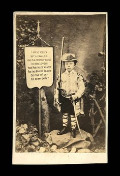1860s Album Advertisement Triple Armed Soldier Kid by diabolus