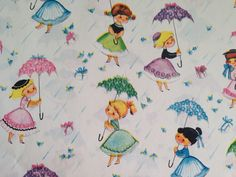 Vintage Gift Wrapping Paper  Rainy Day by TheGOOSEandTheHOUND