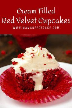 Red Velvet Cupcakes, Velvet Cake, Valentine Desserts, Valentines, Cupcake Recipes, Cupcake Cakes, Dessert Recipes, Gourmet Cupcakes, No Bake Desserts