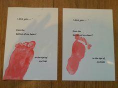 Voetafdruk baby vaderdag moederdag valentijn