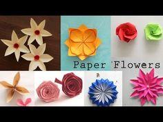 (95) DIY Paper Flowers Tutorial - YouTube