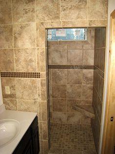 Tiled Bathroom Walk In Shower Pictures