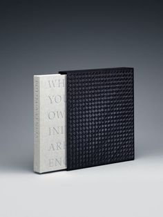 Bottega Veneta Book Luxury edition: The luxury edition is slipcased in intrecciato leather: