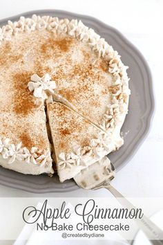 A wonderfully creamy and delicious cheesecake full of pieces of apples and cinnamon. This is not only easy but SO delicious it's a definite must make.