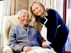 Nelson Mandela & Hillary Clinton. #45. Hillary Rodham Clinton for President 2016 Wife, mom, lawyer, women & kids advocate, FLOAR, FLOTUS, US Senator, SecState, author, dog owner, hair icon, pantsuit aficionado, glass ceiling cracker, TBD