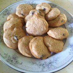 Vegan chocolate chip cookies! 1/4 cup earth balance 1/4 cup almond milk 1/4 cup brown sugar 1/2 tsp aluminum free baking powder 1 cup whole wheat flour 1/4 cup vegan choc chips 1 pinch sea salt Mix and bake @350 12 mins Yum!!