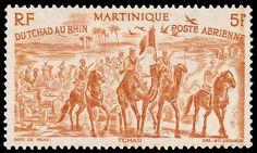 Camel Stamp - Du Tchad au Rhin - Martinique