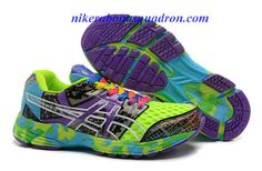 Womens Asics Gel Noosa TRI 8 Racing Running Shoes Indigo Neon Blue Confetti