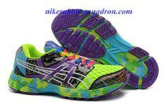 Womens Asics Gel Noosa TRI 8 Racing Running Shoes Indigo Neon Blue Confetti