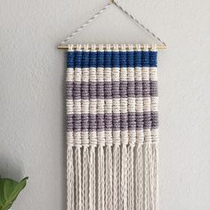 Pattern for Macrame Wall Hanging /Modern by ReformFibers on Etsy
