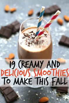 19 Creamy And Delicious Smoothies To Make This Fall // just in time to dust off the old nutribullet