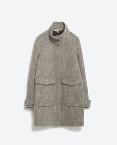 HERRINGBONE COAT from Zara