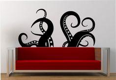 Octopus Tentacles wall decal LARGE Vinyl Sticker Art Decor Bedroom Design Mural  sea creatue kragen animal ocean MODERN