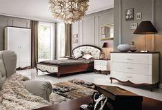 Taranko Furniture Milano White Brown Bed Design Classic Bedroom