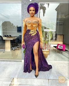 Nigerian Lace Styles Dress, Lace Gown Styles, Ankara Gown Styles, Ankara Dress, Aso Ebi Lace Styles, African Fashion Traditional, African Inspired Fashion, Latest African Fashion Dresses, African Print Fashion