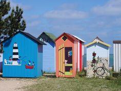 Cabines de plage, à Saint-Denis d'Oléron | Oléron Plage - TOP sorties à l'île d'Oléron