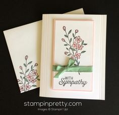 Touches of Texture & Flourishing Phrases sympathy card.  Mary Fish, Stampin' Up! Demonstrator.  1000+ StampinUp & SUO card ideas.  Read more https://stampinpretty.com/2017/04/simple-pretty-touches-of-texture-sympathy-card.html