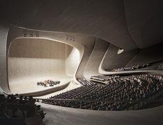 Auditorium, Heydar Aliyev Centre, Baku (2007) by Daniel Widrig Studio, via Behance