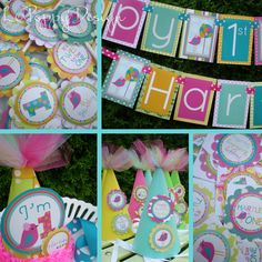 Pink Bird Birthday Party Decorations It's Tweet to by PartyGloss