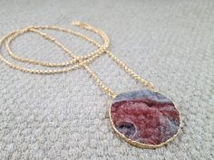 Druzy necklace on gold filled chain by DanaLaRose on Etsy