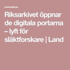 Riksarkivet öppnar de digitala portarna – lyft för släktforskare | Land Logos, Logo, Legos